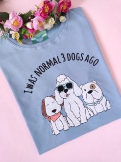 Camiseta 3 Dogs Ago Azul