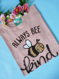 Camiseta Always Bee Kind Rosê