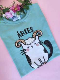 Camiseta Áries Verde
