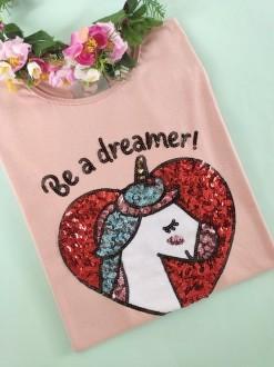 Camiseta Be a Dreamer Rosê