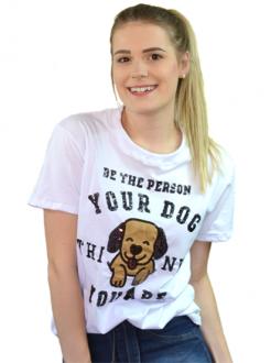 Camiseta Be The Person Branca