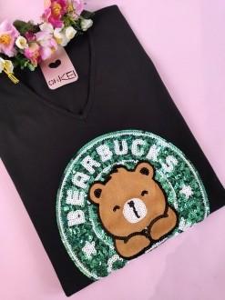 Camiseta Bearbucks Coffee Preta