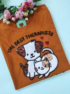 Camiseta Best Therapists Caramelo