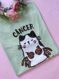 Camiseta Câncer Verde Clarinho