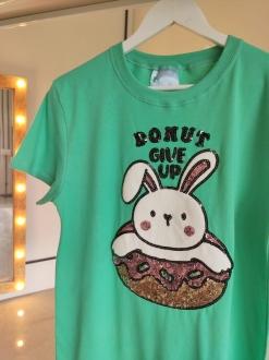Camiseta Donut Give Up Verde