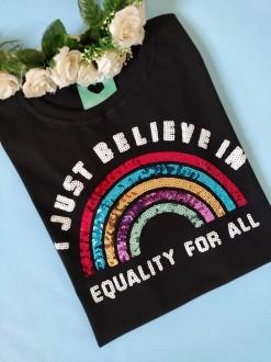 Camiseta Equality For All Preta