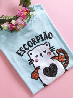 Camiseta Escorpião Azulzinho