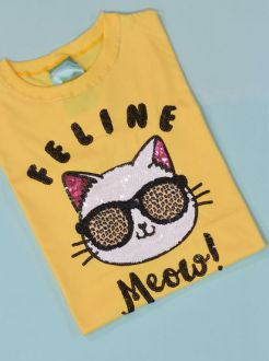 Camiseta Feline Amarela