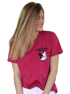 Camiseta Frenchie Kisses Vinho