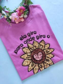 Camiseta Girassol Roxo