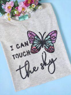 Camiseta I Can Touch The Sky Mescla Claro
