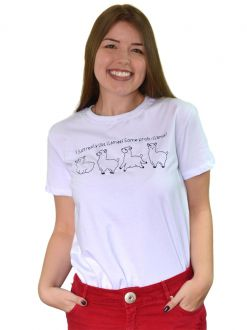 Camiseta I Just Really Like Llamas Brancas