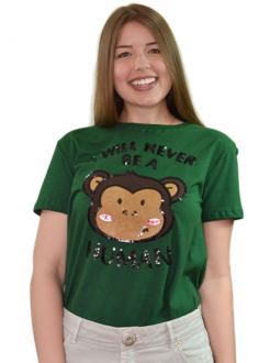 Camiseta I Will Never Be a Human Verde