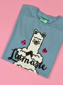 Camiseta Llamaste Azul