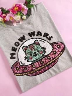 Camiseta Meow Wars Mescla