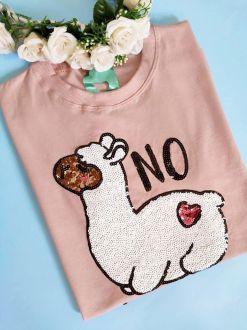 Camiseta No Prob-Llama Rosê