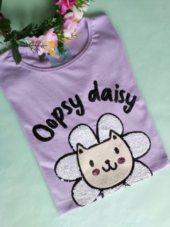 Camiseta Oopsy Daisy Lilás