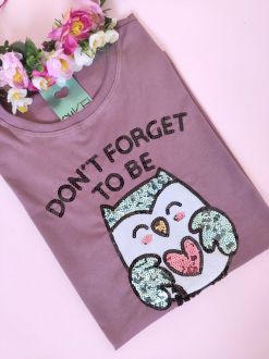 Camiseta Owlsome Roxinha
