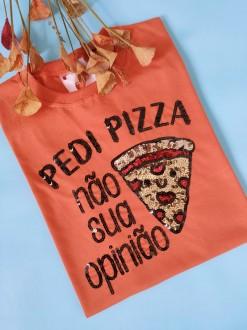 Camiseta Pedi Pizza Laranjado