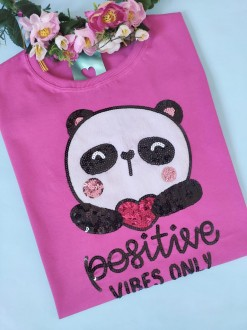 Camiseta Positive Vibes Only Pink