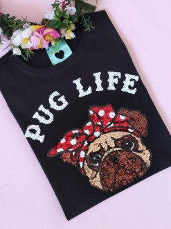 Camiseta Pug Life Preta