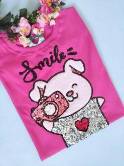Camiseta Smile Pink