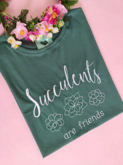 Camiseta Succulents Are Friends Verde