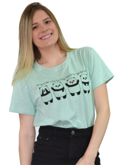 Camiseta The Panda is My Spirit Animal Verde