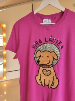 Camiseta Vira Láctea Pink