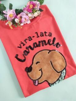 Camiseta Vira-lata Caramelo Laranja