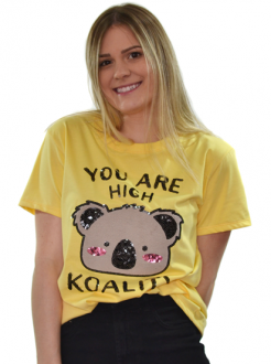 Camiseta You Are High koality Amarela