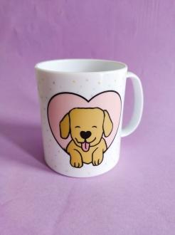 Caneca  em Polímero Dogs Make Me Happy Personalizada com seu nome