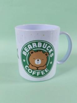 Caneca em Polímero Bearbucks Coffee Personalizada com nome