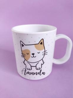 Caneca Mãe de Gato Personalizada com nome