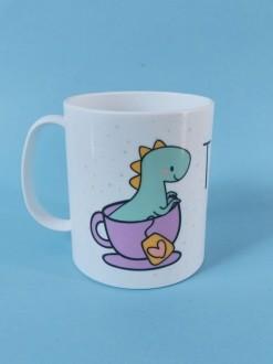 Caneca em Polímero Tea-Rex Personalizada com nome