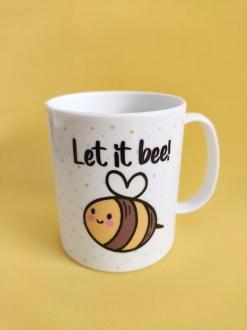 Caneca  em Polímero Let It Bee Personalizada com nome