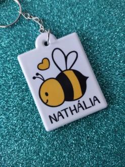Chaveiro Bee personalizado com seu nome