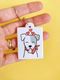 Chaveiro Dog Mama personalizado com seu nome