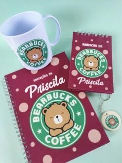 Kit Bearbucks Coffee Personalizado com Nome (4 peças)