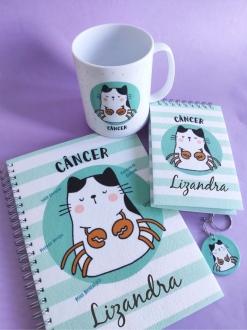 Kit Câncer Personalizado com Nome (4 peças)