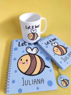 Kit Let It Bee Personalizado com Nome (4 peças)