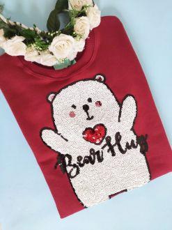 Moletom Bear Hug Bordo