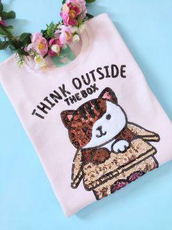 Moletom Cat Box Rosa