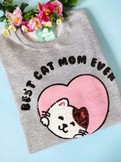 Moletom Cat Mom Mescla