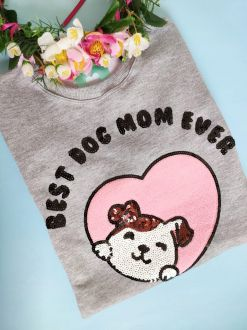 Moletom Dog Mom Mescla