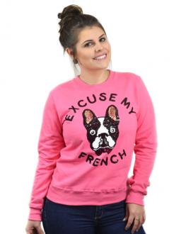 Moletom Excuse My French Pink