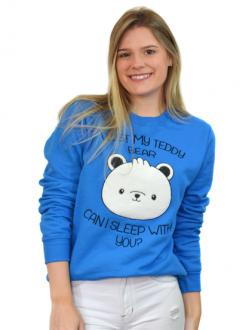 Moletom I Lost My Teddy Bear Azul