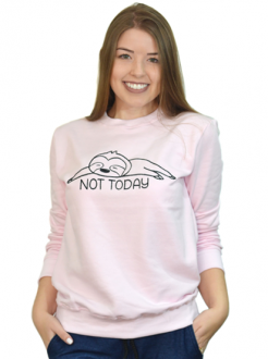Moletom Not Today Rosa