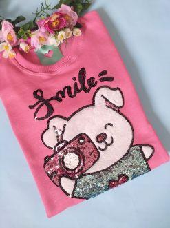 Moletom Smile Rosa Forte