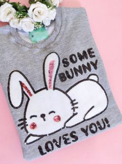 Moletom Some Bunny Loves You Mescla